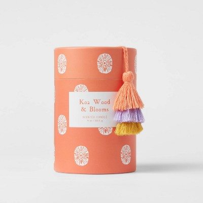 9oz Global Glass Jar Boxed Koa Wood and Blooms Candle - Opalhouse™