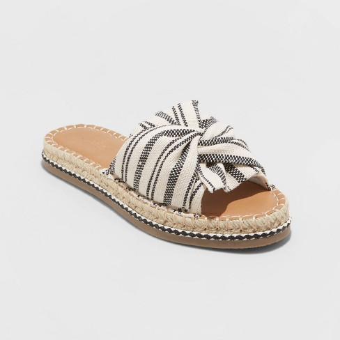 Women's Lila Knotted Espadrille Slide Sandals - Universal Thread™ - image 1 of 3