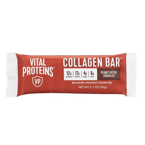Vital Proteins Collagen Bar - Peanut Butter Chocolate - 2.1oz - image 1 of 4