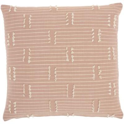 """18""""x18"""" Broken Stripes Square Throw Pillow Pink - Kathy Ireland Home"""