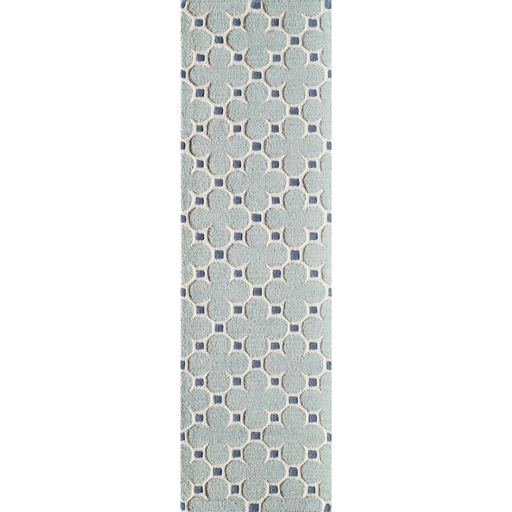 Candler Wool Runner - Blue (2'3 X 8' Runner )