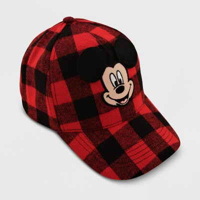 Toddler Mickey Mouse Plaid Hat