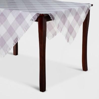 50 x50  Plaid Tablecloth Purple - Threshold™
