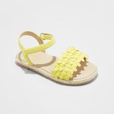 Toddler Girls' Elvie Espadrille Sandals - Cat & Jack™ Yellow 5