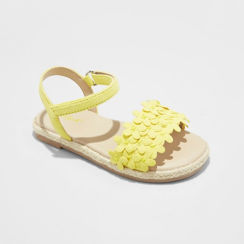 9ae91bbe7a3 Toddler Girls  Elvie Espadrille Sandals - Cat   Jack™ Yellow 6   Target