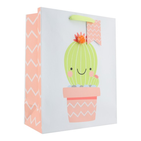 Happy Cactus Large Gift Bag - Spritz™ - image 1 of 2