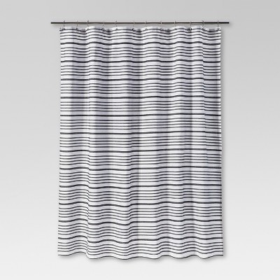 Multi - Stripe Shower Curtain Black - Threshold™