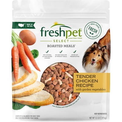 Freshpet Select Roasted Meals Tender Chicken Recipe Refrigerated Wet Dog Food - 5.5lbs