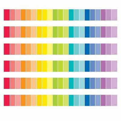 6pk 35ft Paint Chip Classroom Borders Rainbow - Creative Teaching Press