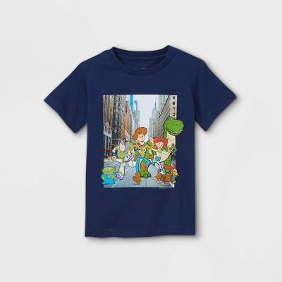 Toddler Boys' Toy Story Short Sleeve Graphic T-Shirt - Dark Blue