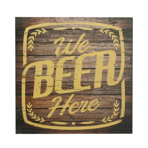 We Beer Here Wall Art Brown 15 x 15 - Stonebriar Collection - image 1 of 6