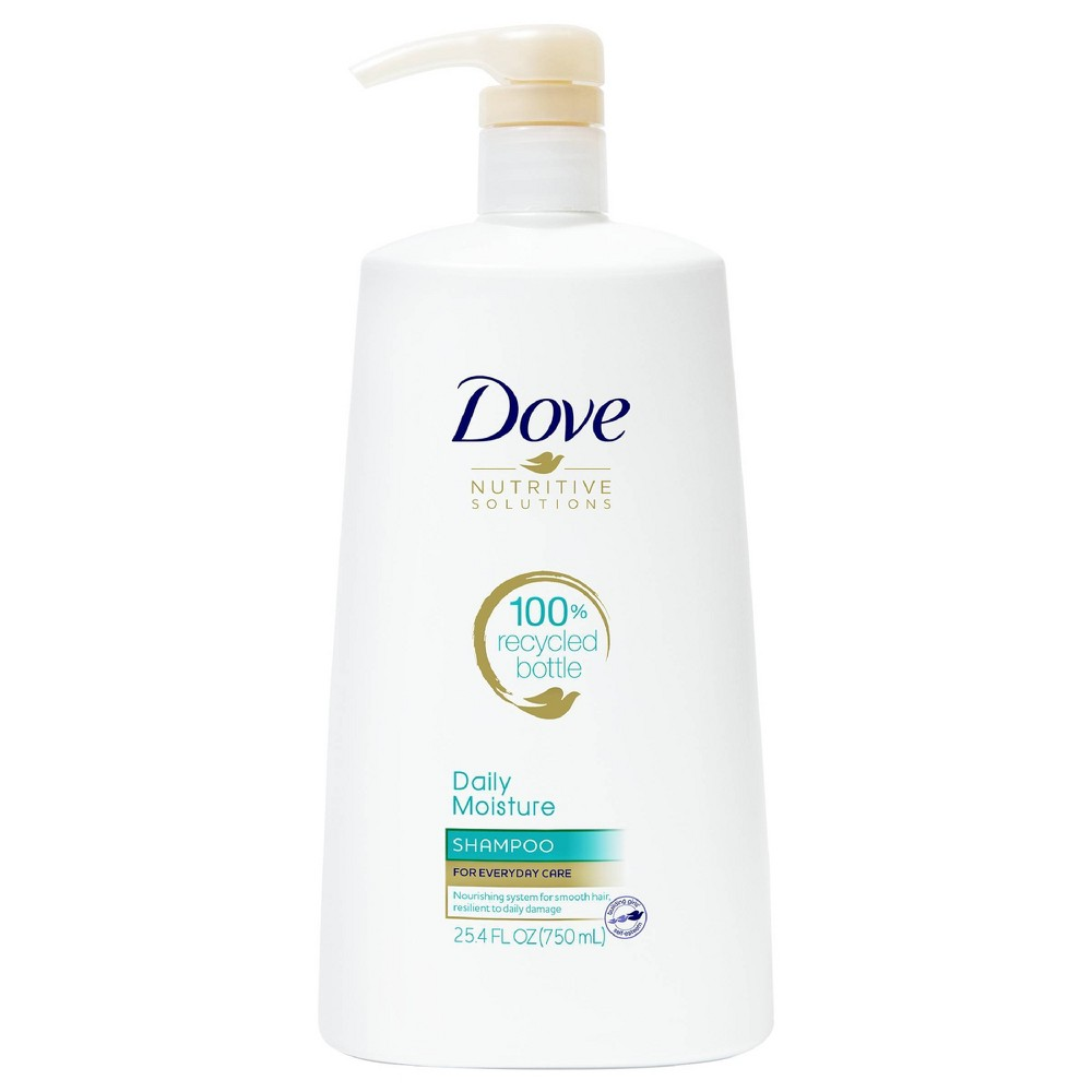 Dove Nutritive Solutions Moisturizing Shampoo With Pump For Normal To Dry Hair Daily Moisture 25 4 Fl Oz