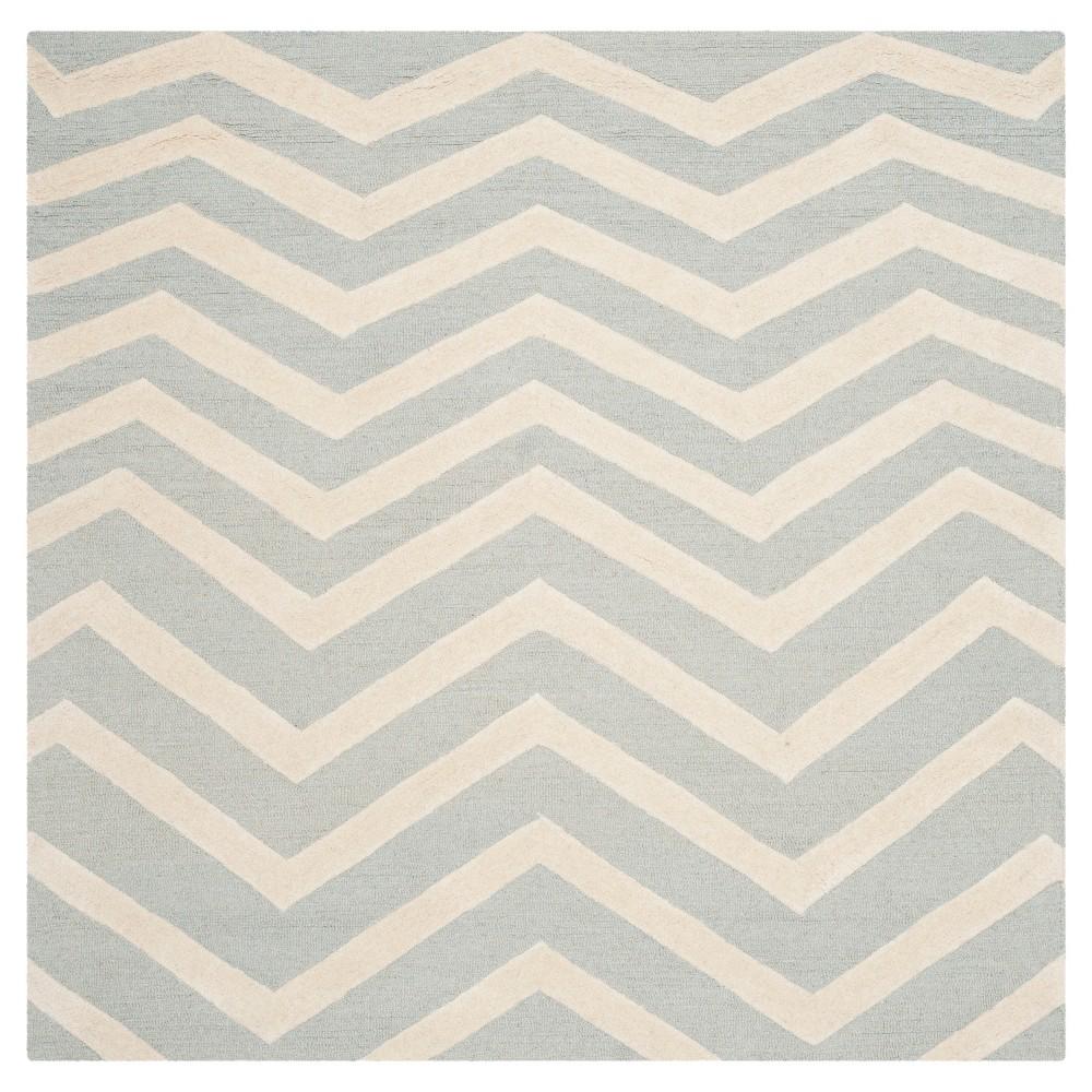 Safavieh Wilshire Area Rug - Grey / Ivory ( 6' X 6' ), Gray/Ivory