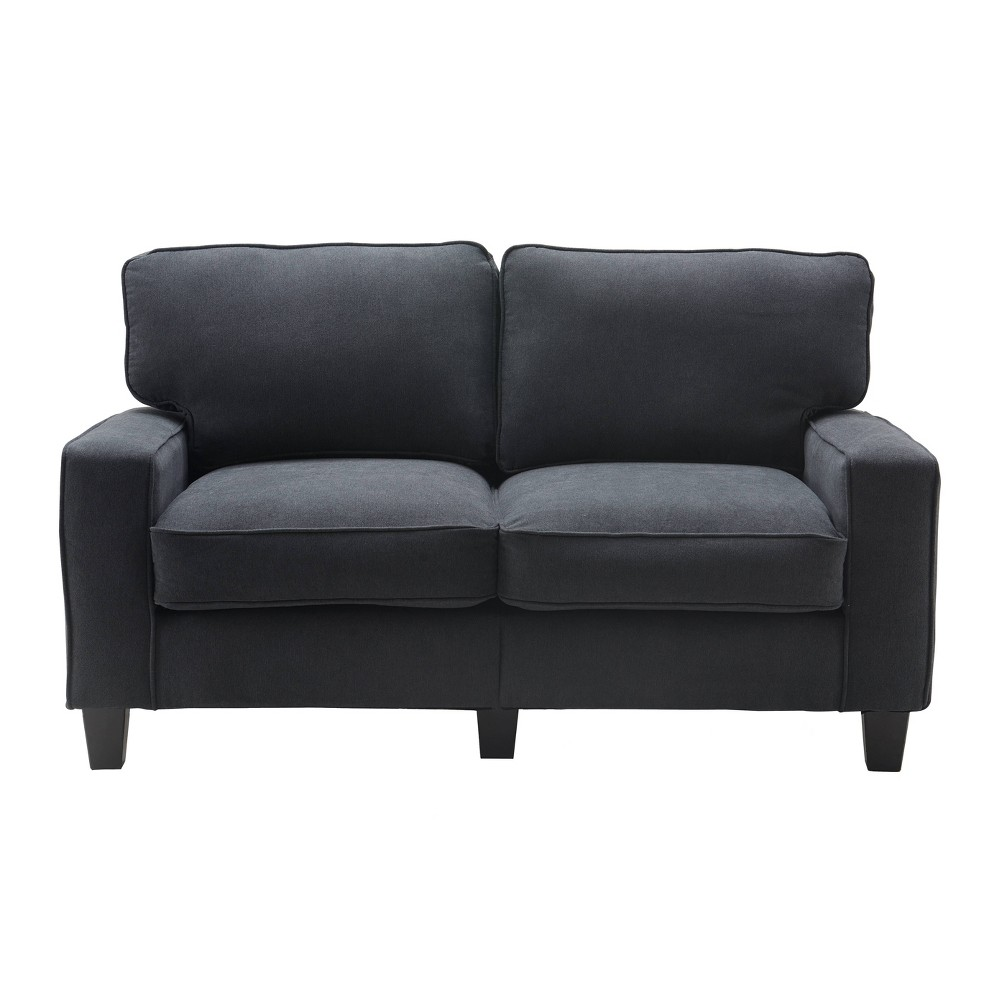 61 Palisades Loveseat Charcoal (Grey) - Serta