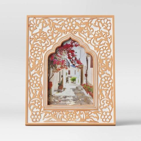 "4"" x 6"" Kazbah Resin Frame Cream - Opalhouse™ - image 1 of 4"