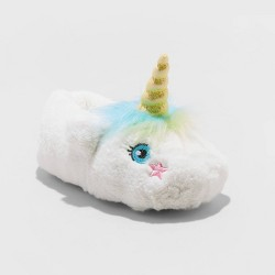 Toddler Girls' Raylee Unicorn Slipper - Cat & Jack™ White