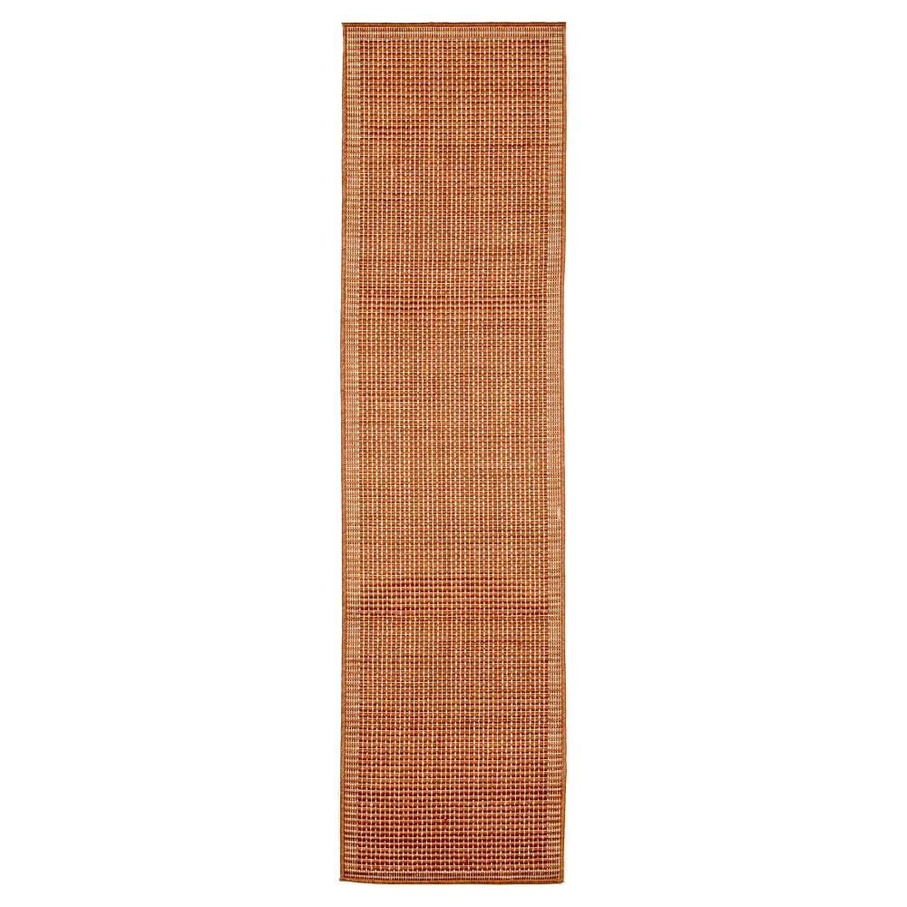 """Image of """"Terrace Indoor/Outdoor Texture Rug 23""""""""X7'6"""""""" Rust - Liora Manne, Size: 1'11""""""""X7'6"""""""" RUNNER, Orange"""""""
