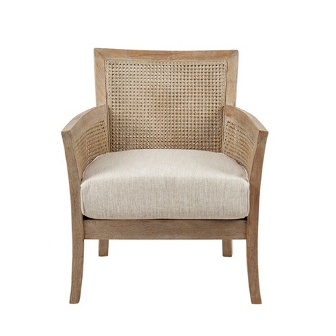 Surprising Paulie Accent Chair Cream Reclaimed Natural Gmtry Best Dining Table And Chair Ideas Images Gmtryco