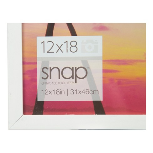 Single Image 12X18 White Wood Frame - Gallery Solutions