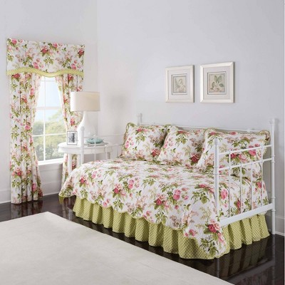 Waverly Emma's Garden 5 Piece Daybed Set - Green/Pink (Daybed)