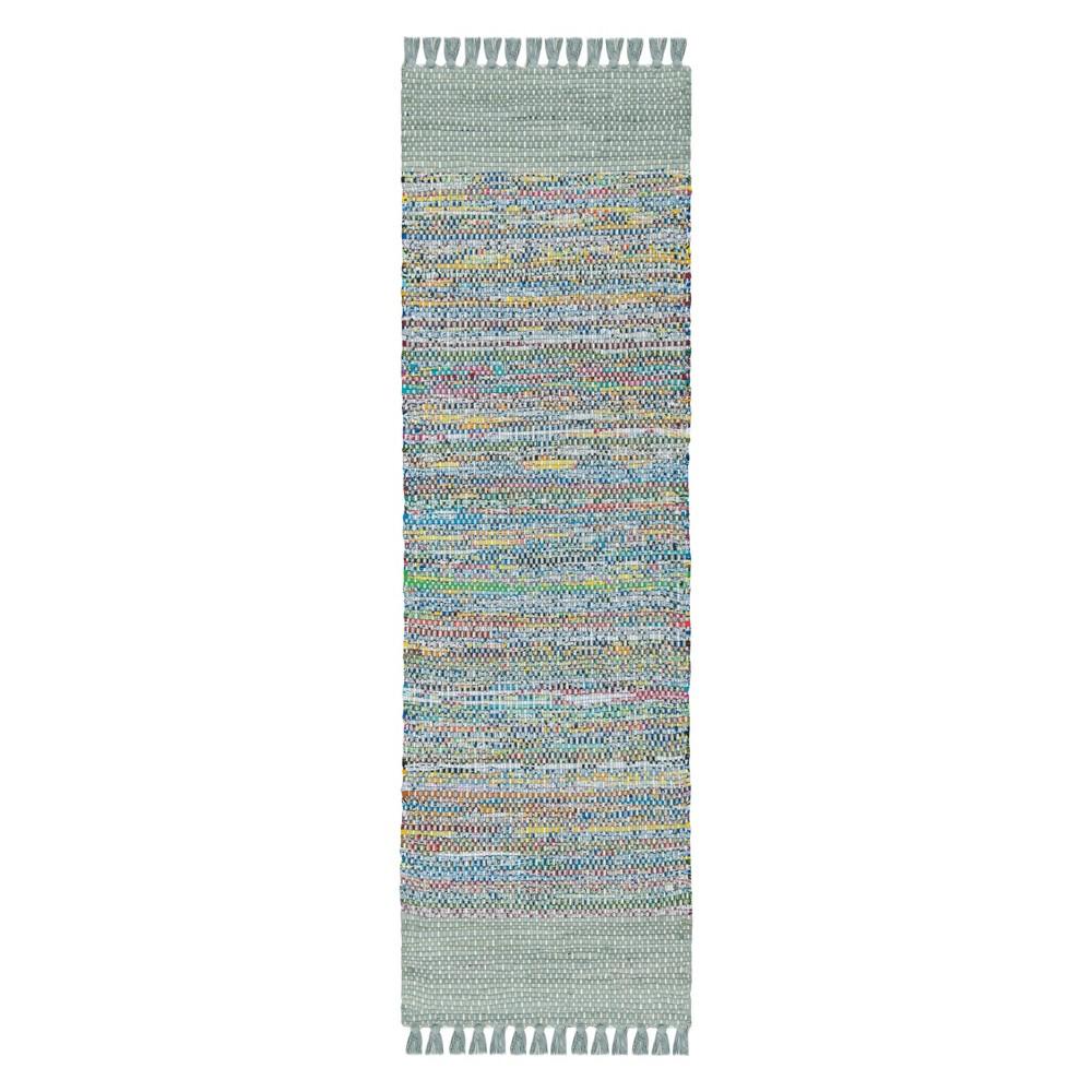 Solid Woven Runner 2'3X8' - Safavieh, Gray/Multi