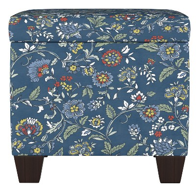 Fairland Square Storage Ottoman Bandana Blue - Threshold™