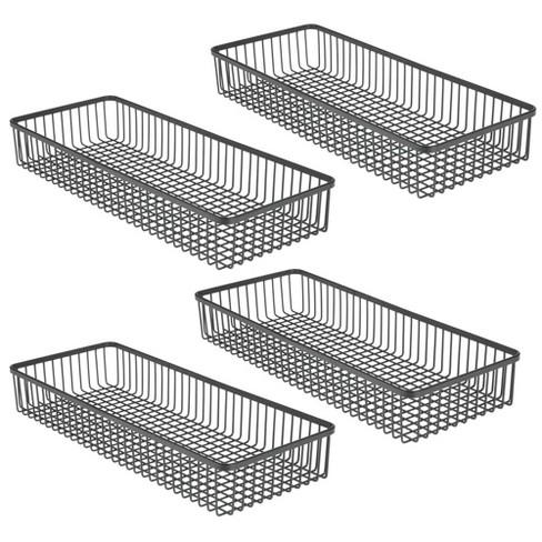 mDesign Metal Kitchen Cabinet Drawer Organizer Tray, 4 Pack - image 1 of 4