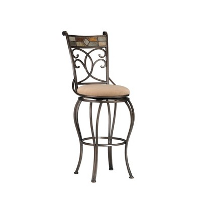 "30"" Pompeii Swivel Barstool Metal/Black - Hillsdale Furniture"