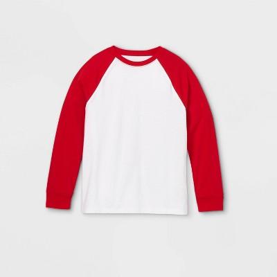 Boys' Baseball Long Sleeve T-Shirt - Cat & Jack™ Red/White