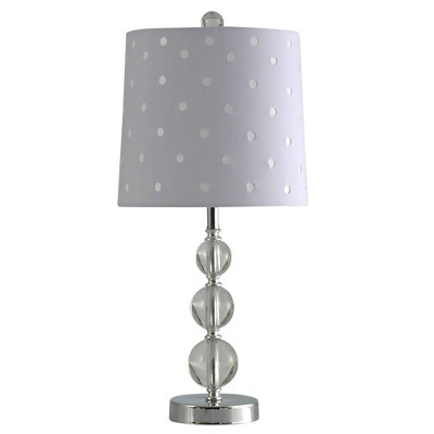 Romy Crystal Steel Table Lamp with Acrylic and Metal Fabric Shade Clear - StyleCraft