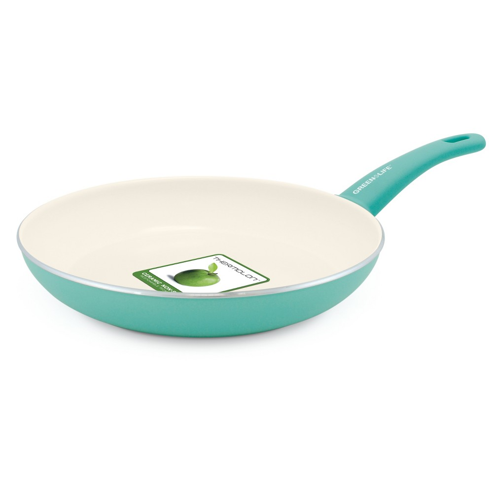 Image of GreenLife 12 Ceramic Non-Stick Open Frypan Turquoise