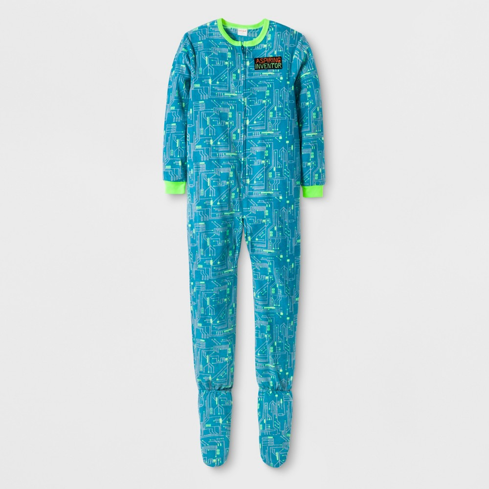Boys' Inventor Graphic Footed Sleeper - Cat & Jack Aqua M, Blue