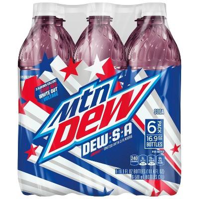 Mountain Dew DEW.S.A Soda - 6pk/16.9 fl oz Bottles