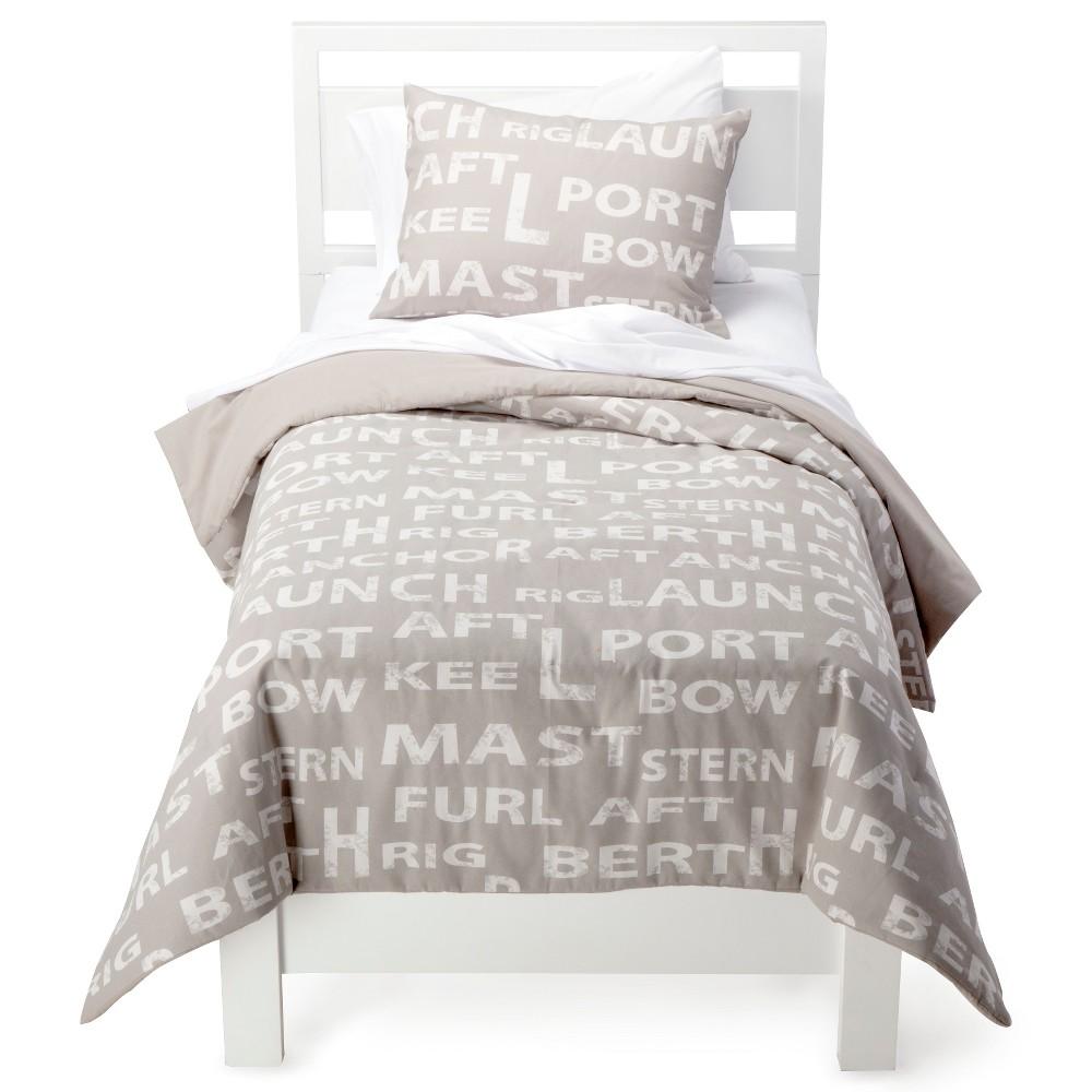 Rizzy Home Sail Away Comforter Set - Khaki/Ivory (Green/Ivory) (Twin)