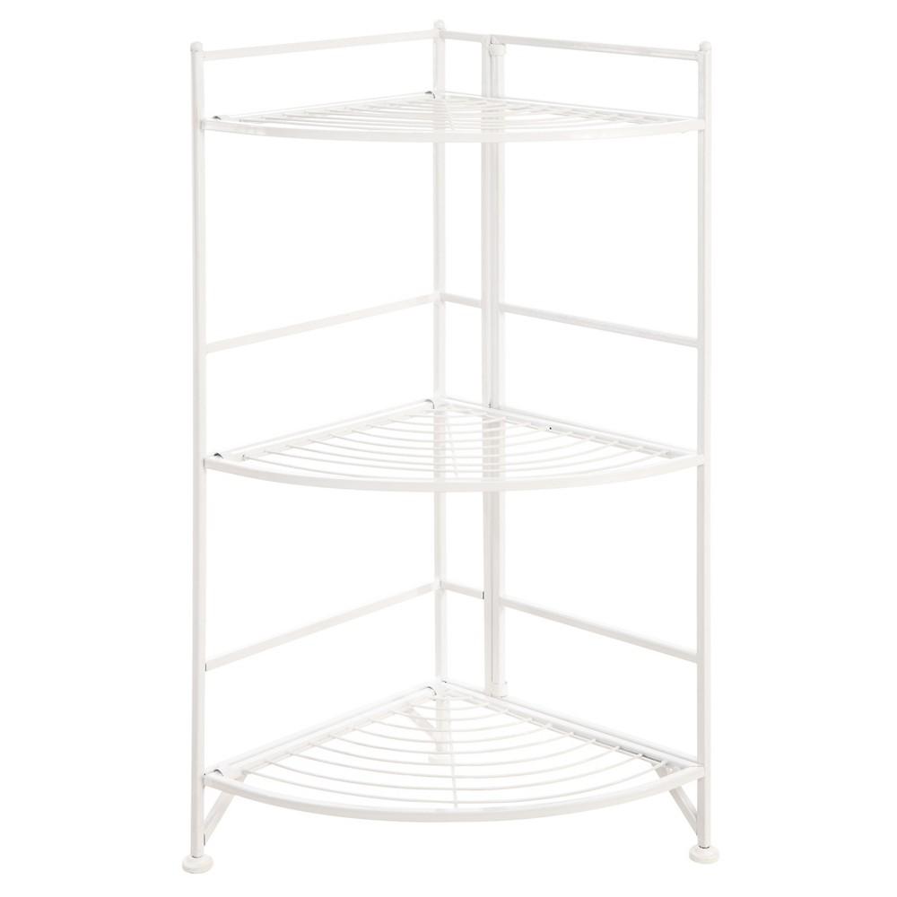 Image of 32.25 Decorative Bookshelf White - Convenience Concepts