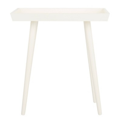 Nonie Tray Accent Table Distressed White - Safavieh