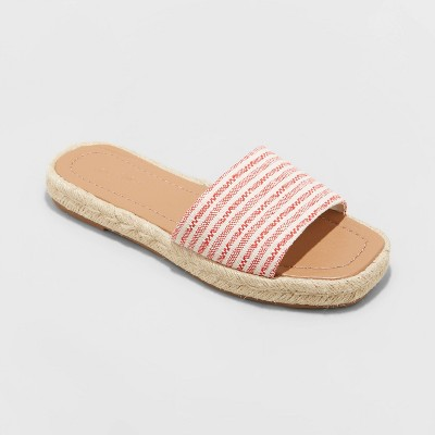 Women's Maren Square Toe Espadrille Slide Sandals - Universal Thread™