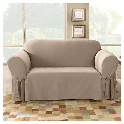 Cotton Duck Sofa Slipcover Sure Fit Target