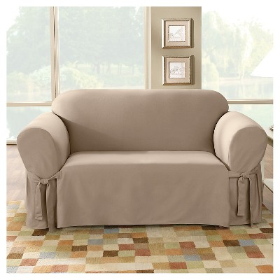 Cotton Duck Sofa Slipcover   Sure Fit : Target