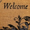 "Sunnydaze Indoor/Outdoor PVC and Coir Decorative Porch Entryway Doormat Rug - 17"" x 29"" - Blue Leaf Scroll - image 4 of 4"