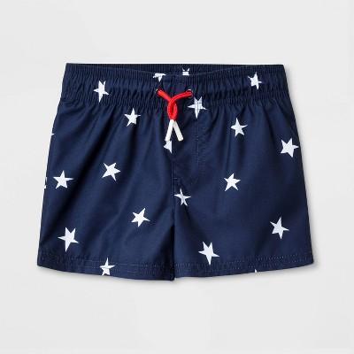 Baby Boys' Stars Swim Trunks - Cat & Jack™ Navy 18M