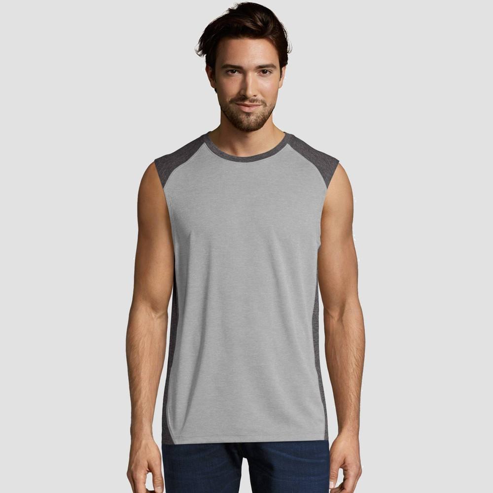 Hanes Sport Mens Performance Muscle T-Shirt - Gray M Best