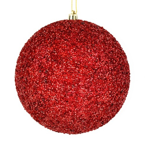 Vickerman 6 Wine Beaded Ball Ornament 4 Per Bag Target