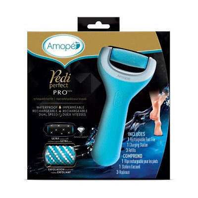Amope Pedi Perfect Wet Dry Electronic Pedicure Foot File and Callus Remover - 1ct