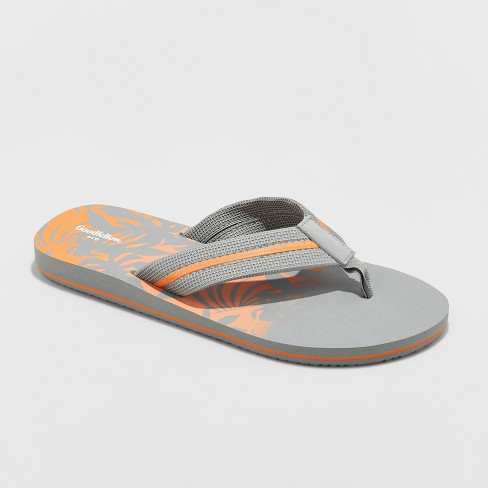 Men's Ronnie Flip Flop Sandals - Goodfellow & Co™ Grey S - image 1 of 3