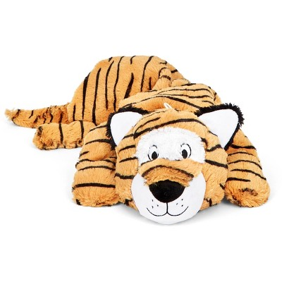 BARK Benji the Tiger Squeaker Dog Toy - Orange