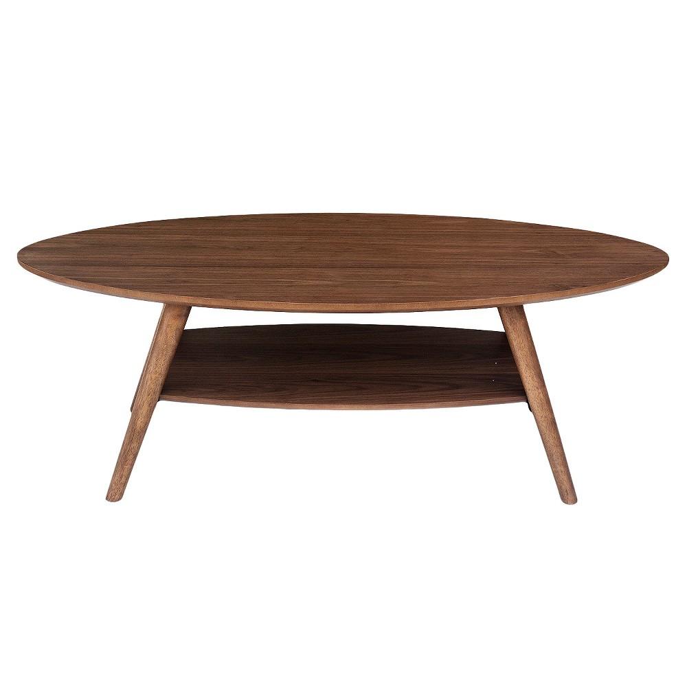 Darby Modern Coffee Table with Veneer Top - Walnut (Brown) - Aeon