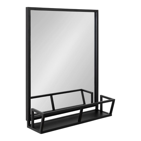 "22"" x 29"" Jackson Functional Wall Mirror Black - Kate & Laurel All Things Decor - image 1 of 4"