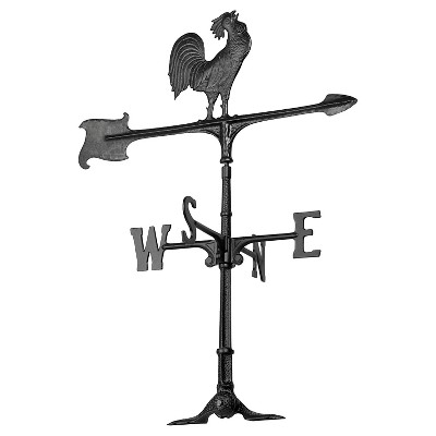 24  Rooster Accent Weathervane - Black - Whitehall Products