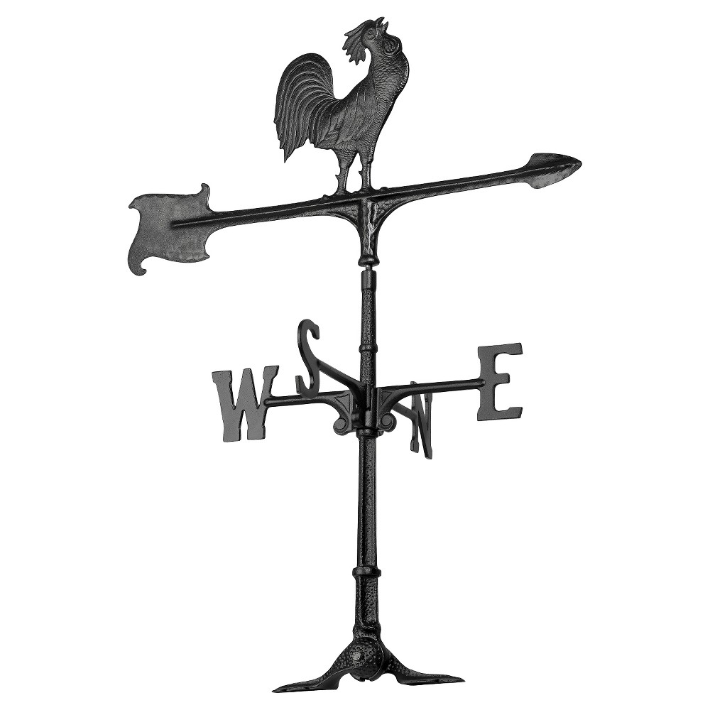 "Image of ""24"""" Rooster Accent Weathervane - Black - Whitehall Products"""